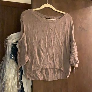 Express Sweaters - Brown Express flare sleeve cold shoulder sweater